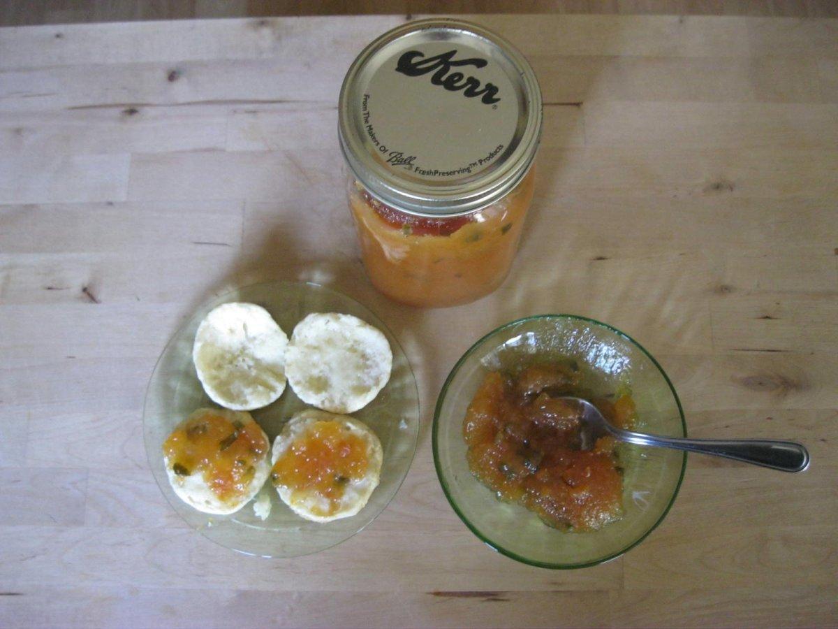 Persimmon and Jalapeño Pepper Jam-Preserve Recipe