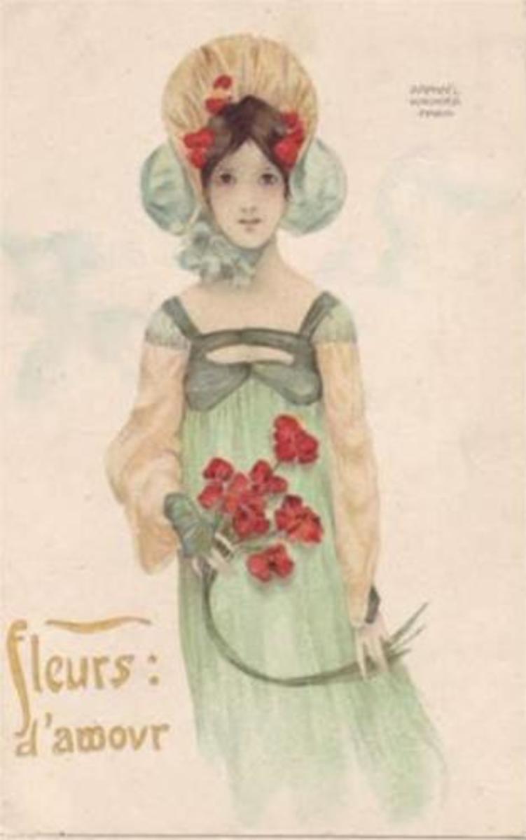 Love Flowers by Raphael Kirchner (1903)