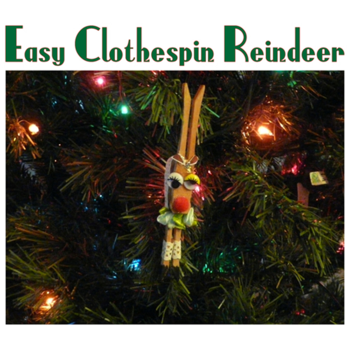Easy Clothespin Reindeer Ornaments: A Christmas Craft to Do With Kids