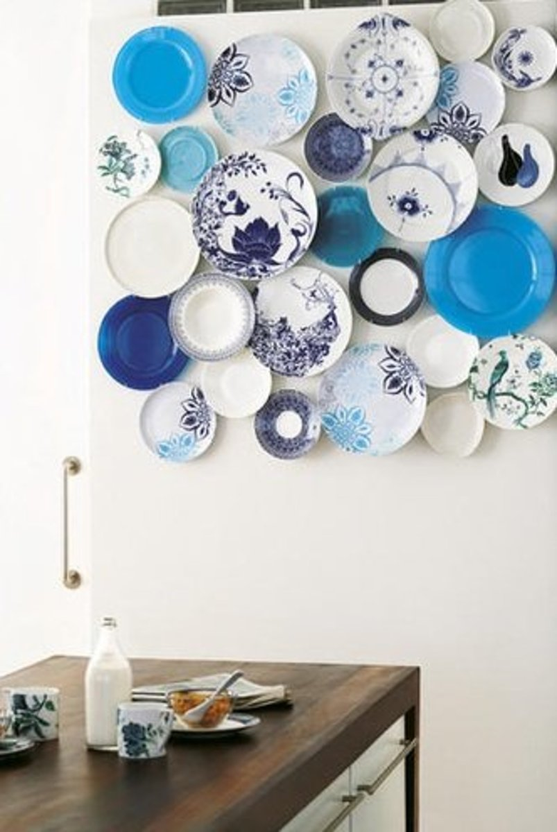 Decorating with Plates: Using Dinner Plates to Decorate your Walls