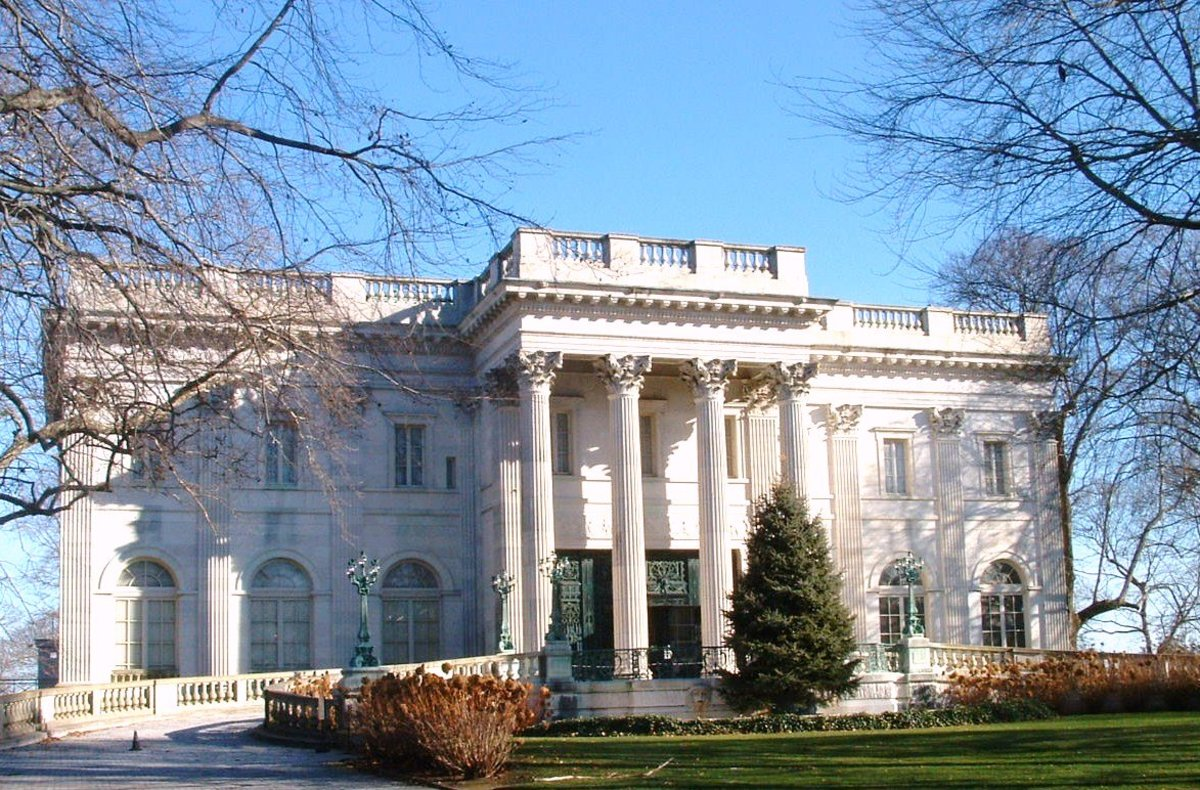 The Marble House Mansion in Winter Season.