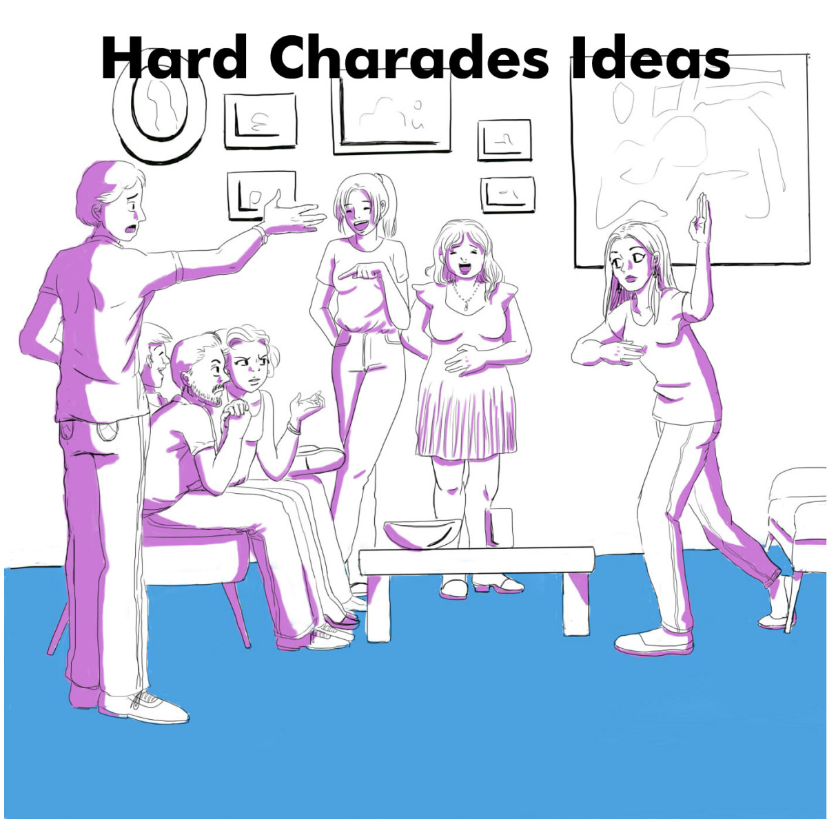 Hard Charades Ideas—Movies, TV Shows, Books, and More