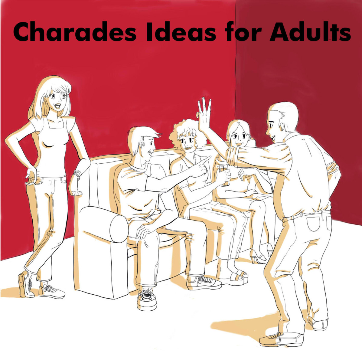 Find some challenging charades topics for your next party.