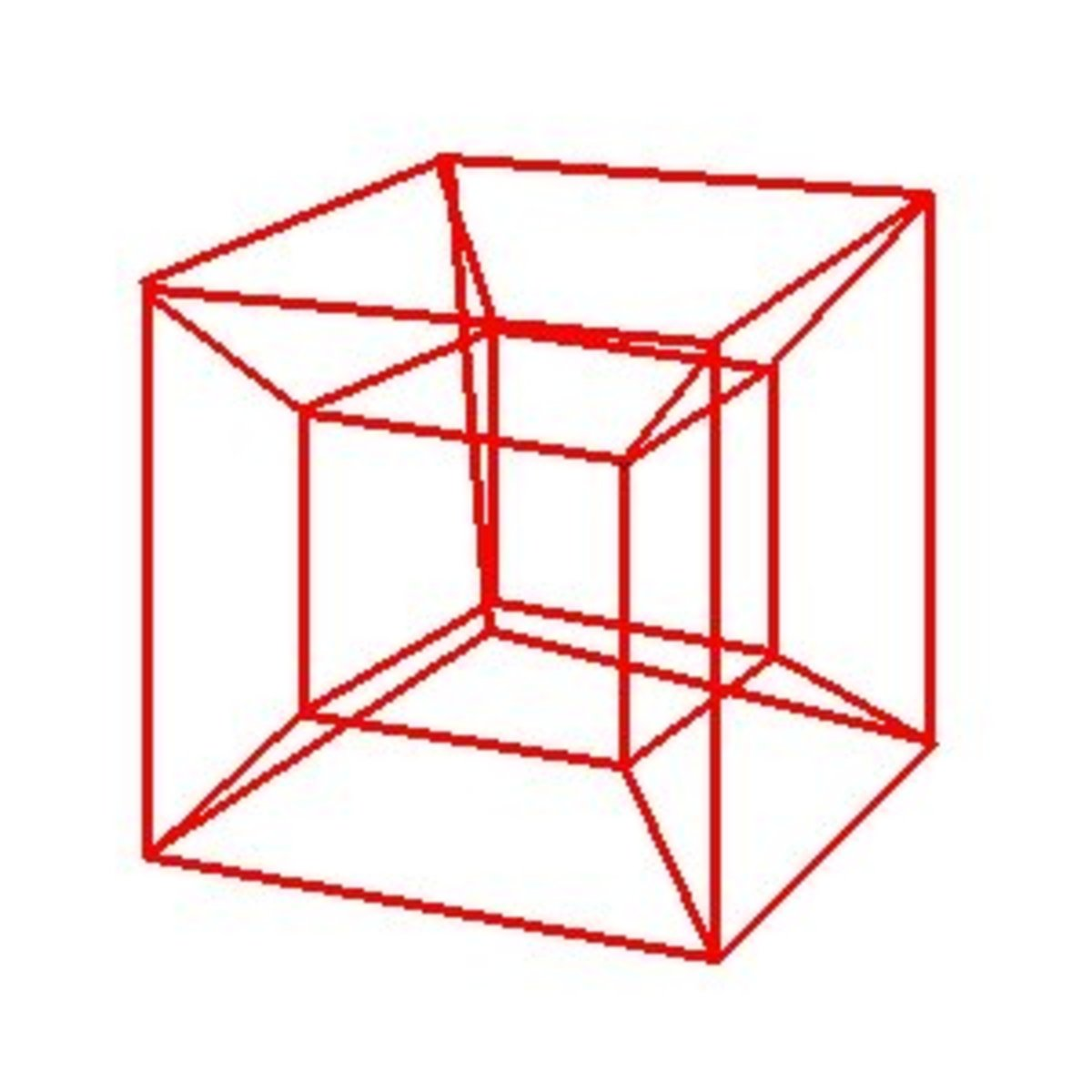 """In geometry, the tesseract, also called an 8-cell or regular octachoron or cubic prism, is the four-dimensional analog of the cube."""