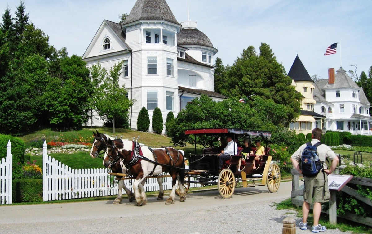 Horses & carriages seen on Mackinac Island