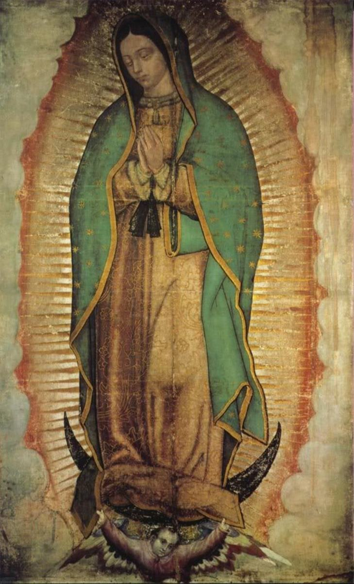 The original image as discovered on Juan Diego's tilma...supposedly.