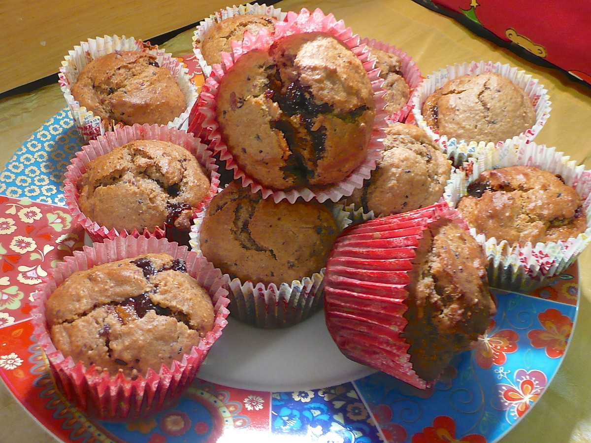 Tasty mincemeat muffins