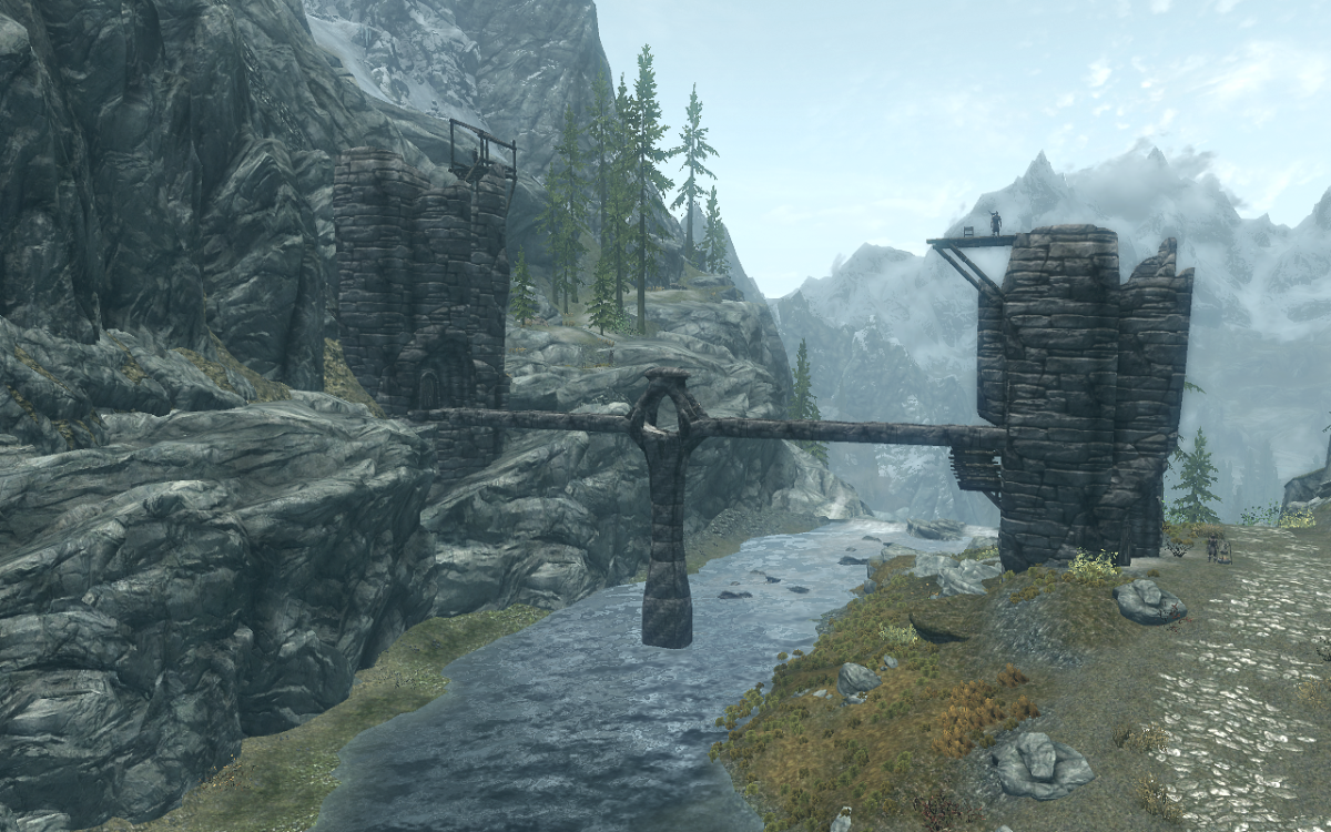 The Valtheim Towers in The Elder Scrolls V: Skyrim.