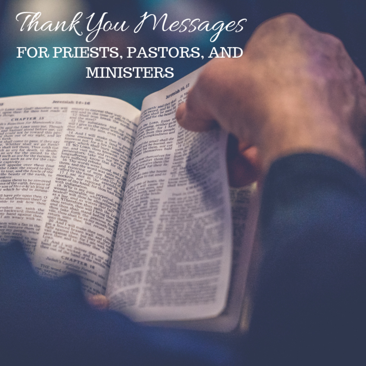 Thank You Note Examples for Pastors, Ministers, or Priests