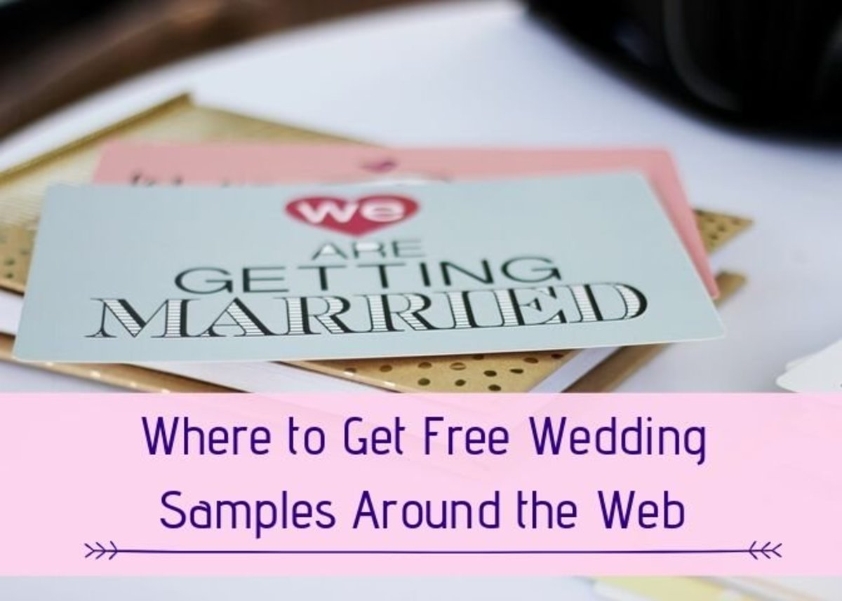 A Collection of the Best Free Wedding Samples and Products