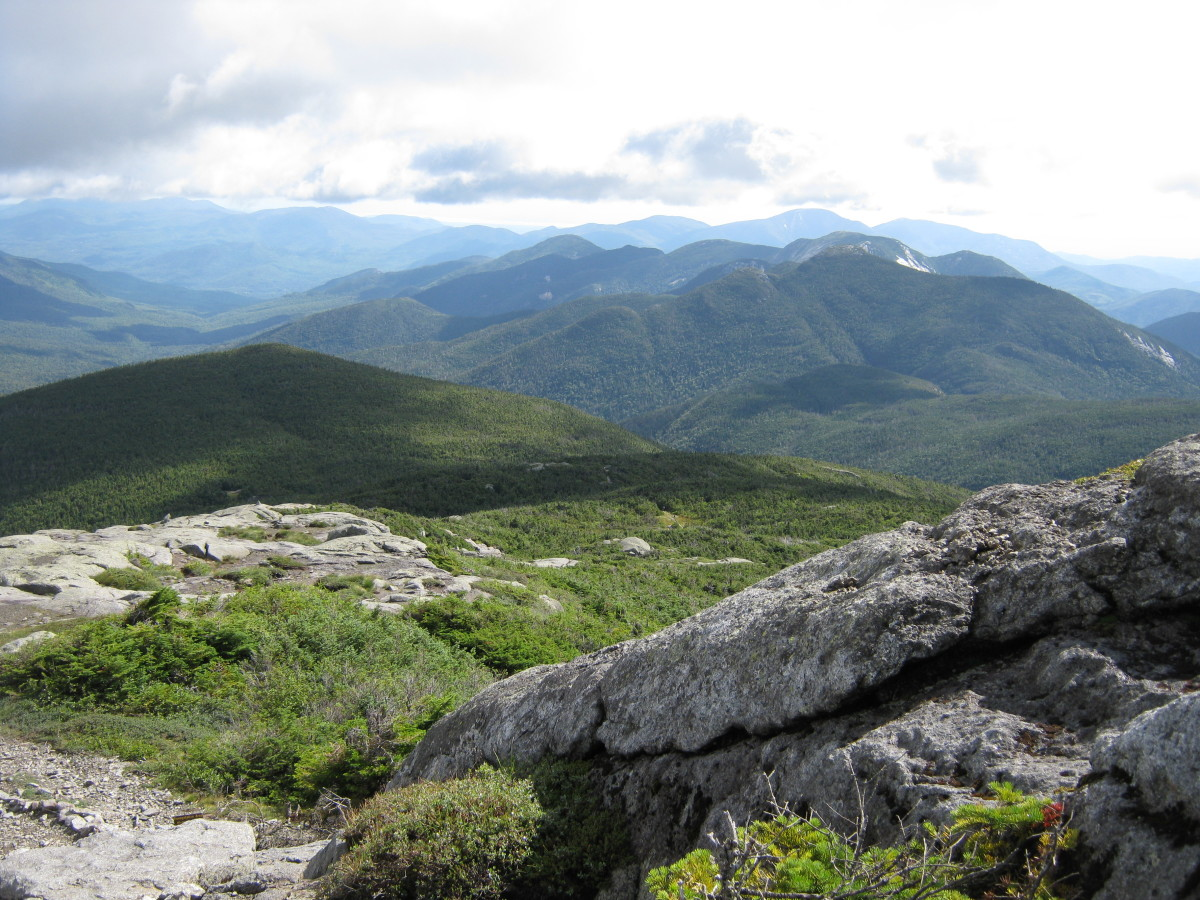 You don't see breathtaking scenery like this at the local gym. This picture taken atop Mt Marcy in the Adirondacks.
