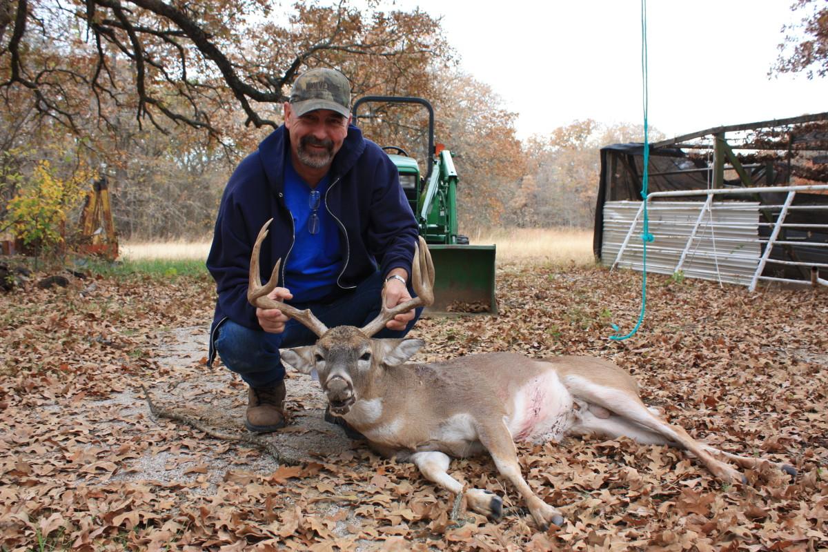 Hubby and last year's deer