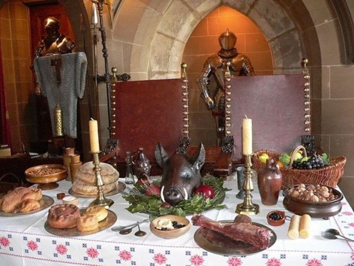 Medieval tudor feast menu owlcation