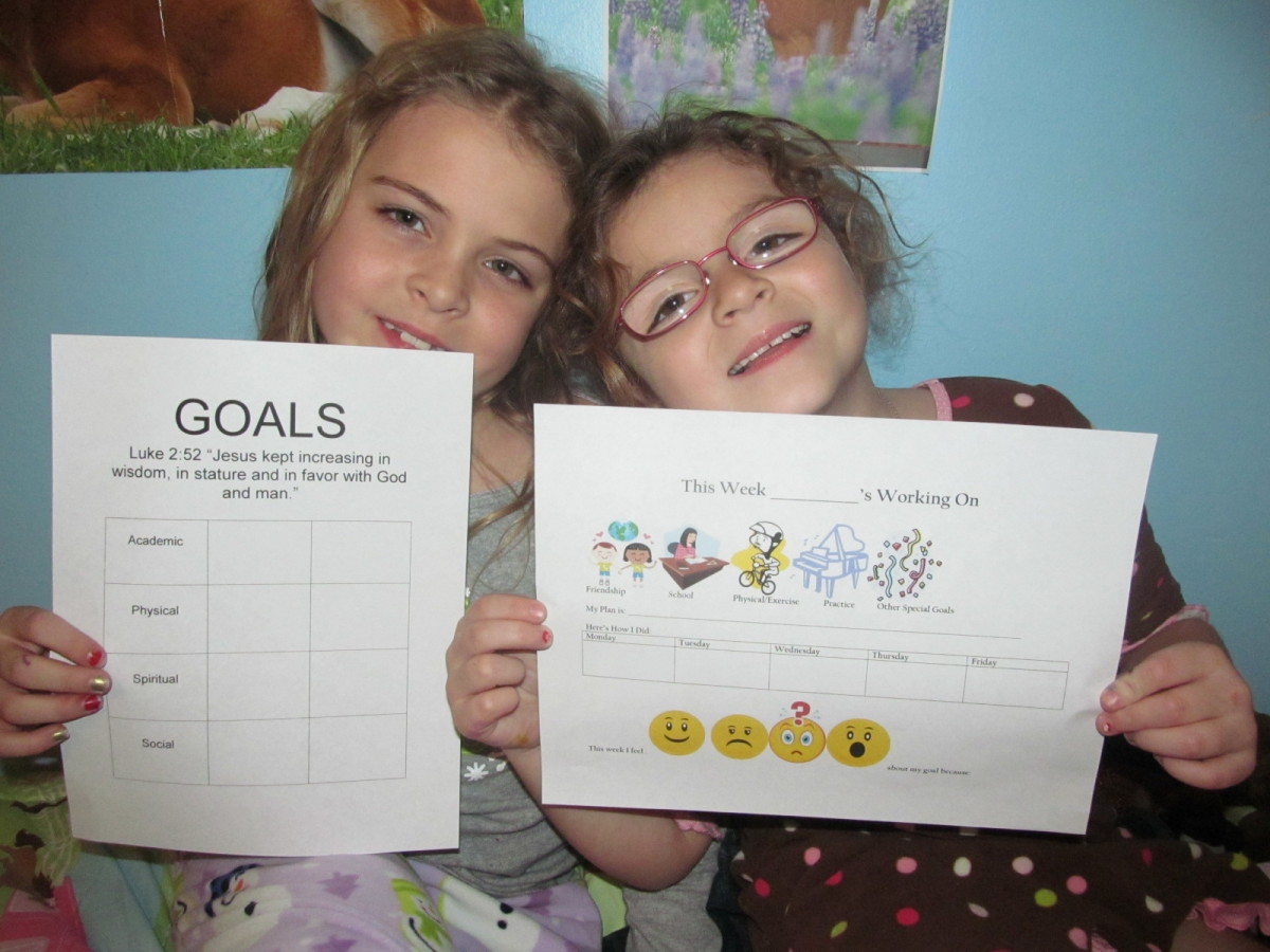 How To Help Your Children Set and Reach Goals: A Guide With Illustrations and Examples