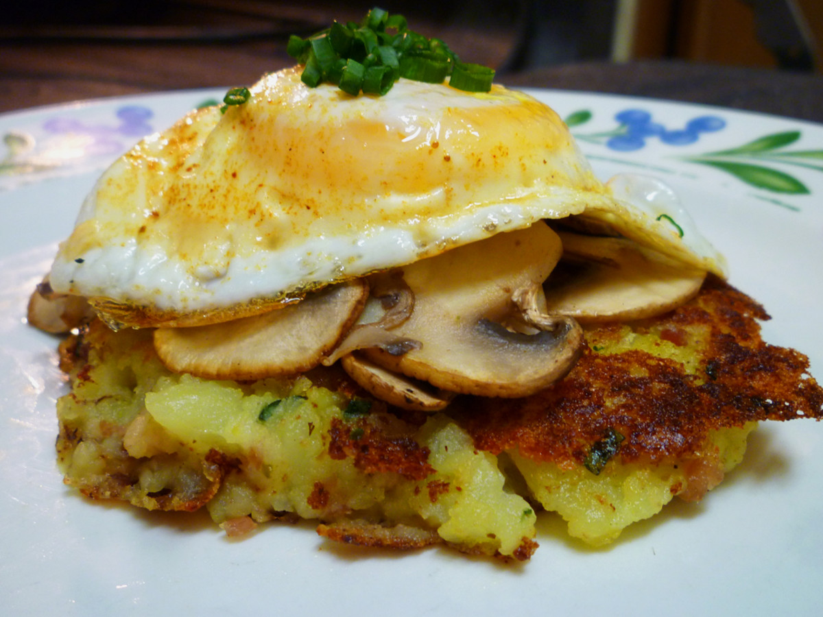 Use leftover mashed potatoes to make potato cakes!