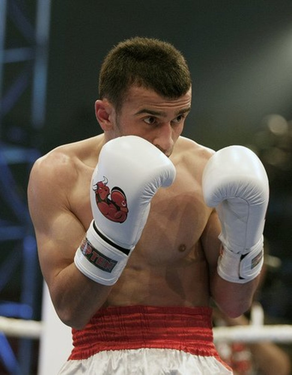 Boxer's stance.