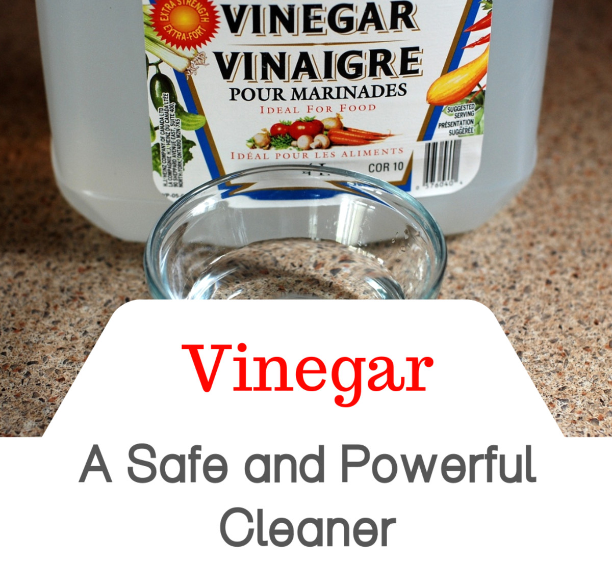 Make your home a healthier place for you and your family by cleaning with white distilled vinegar.