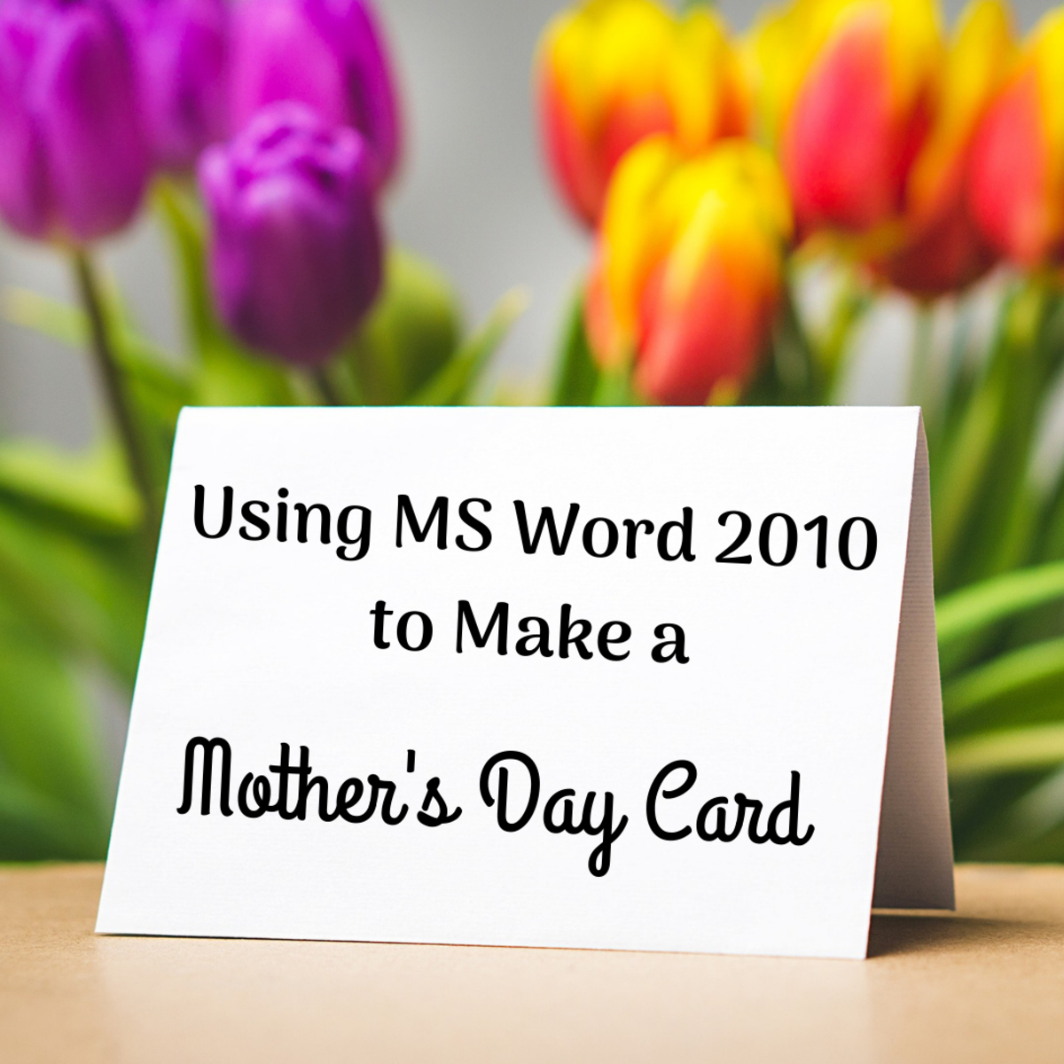 Get instructions for making and printing a Mother's Day card with MS Word 2010.