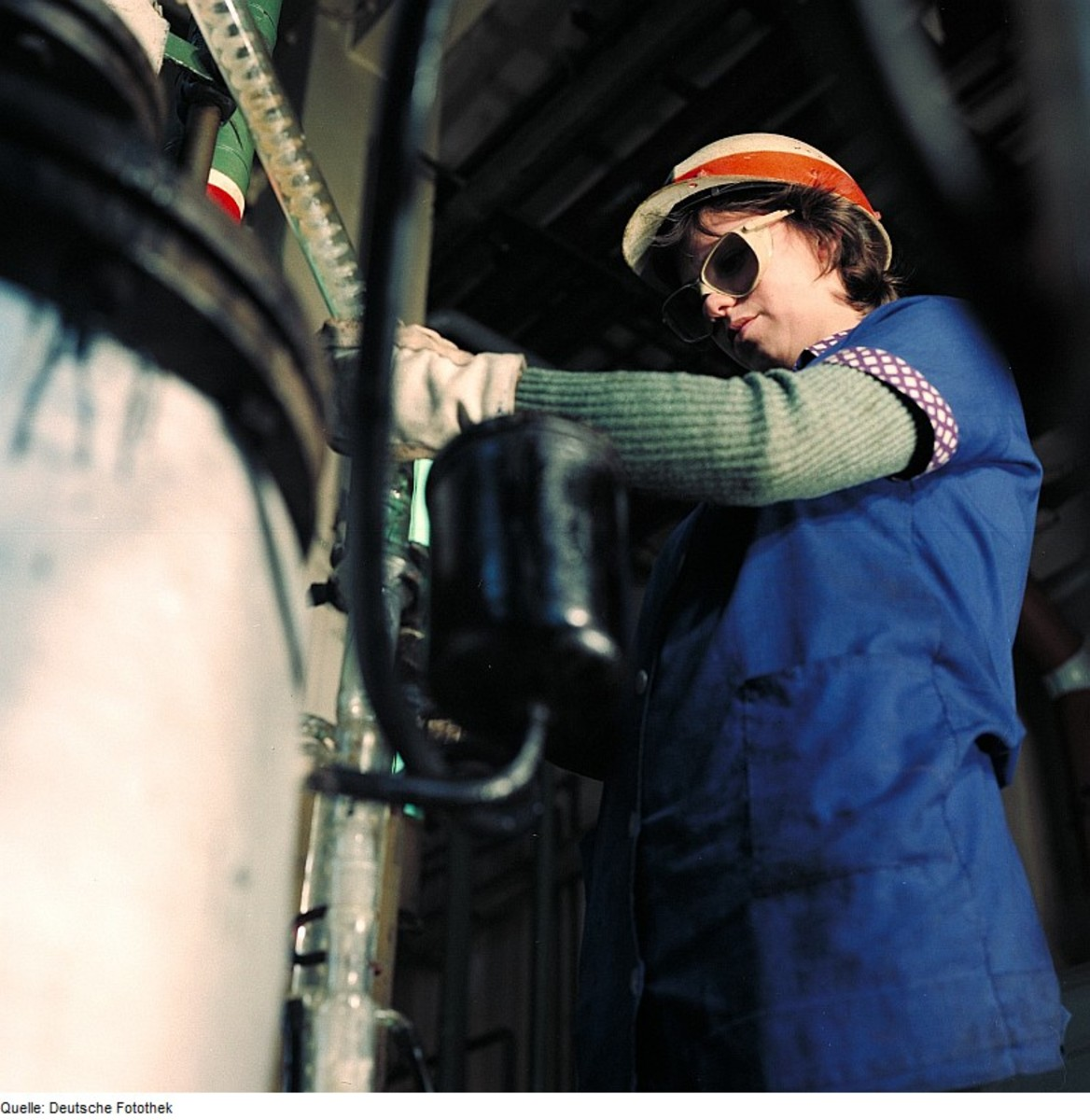 Woman working in construction