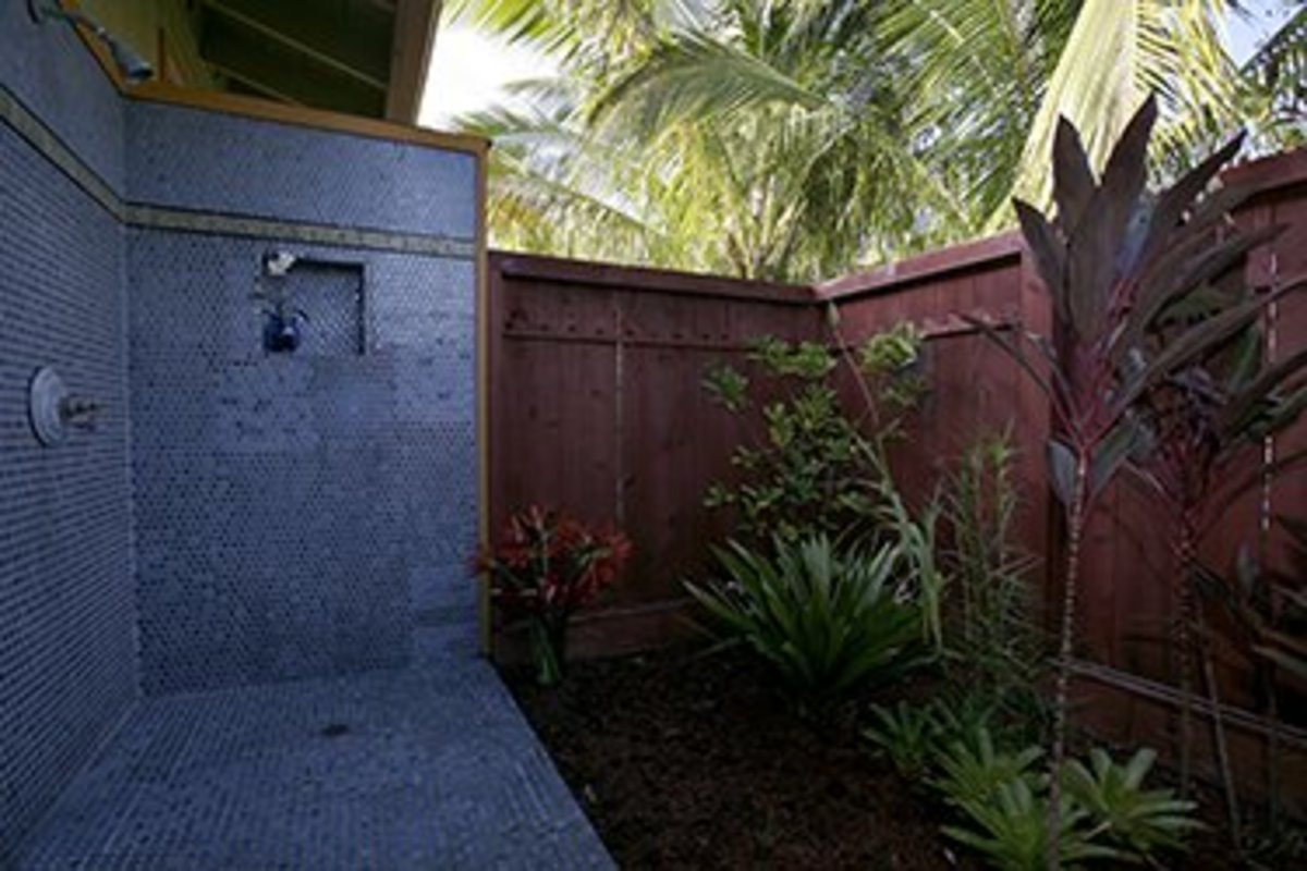 Outdoor Shower Enclosures.