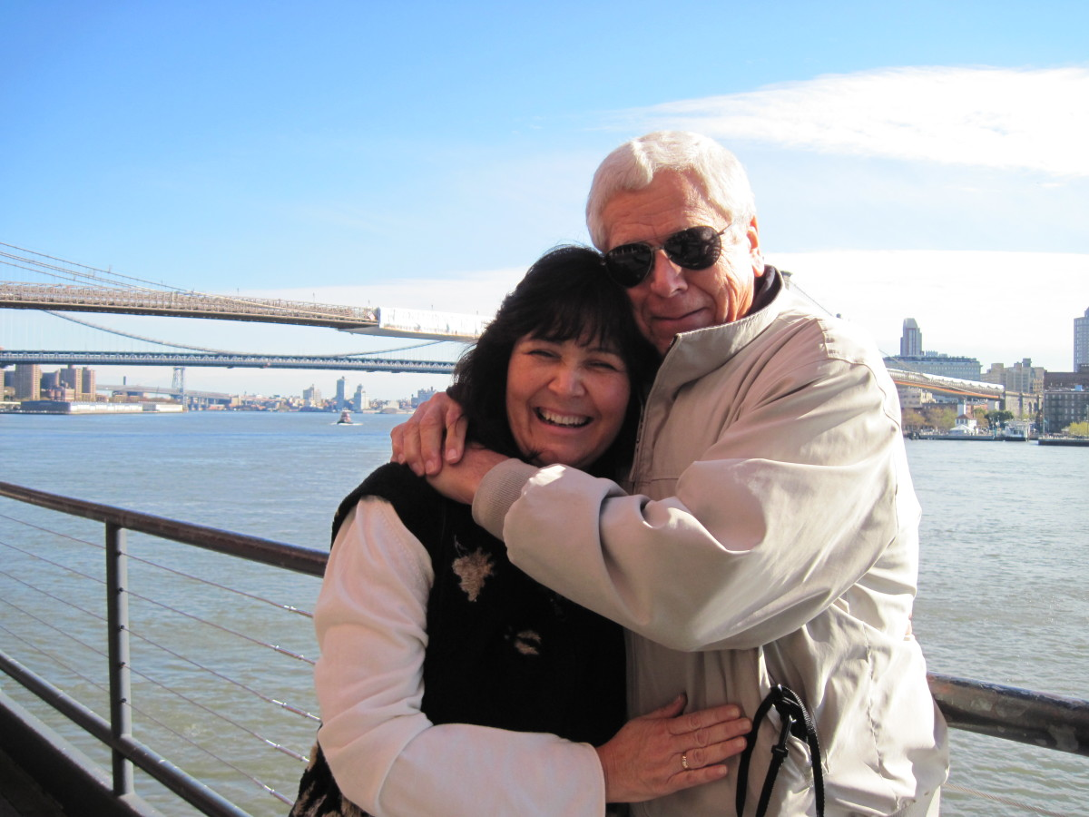 The author and her husband in New York City