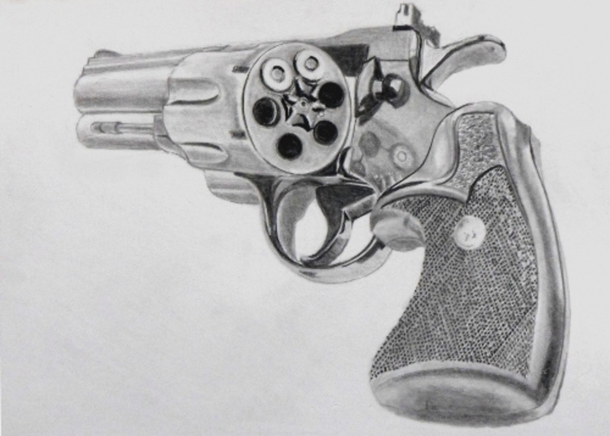 Gun Pencil Drawings How to Draw a Gun...520