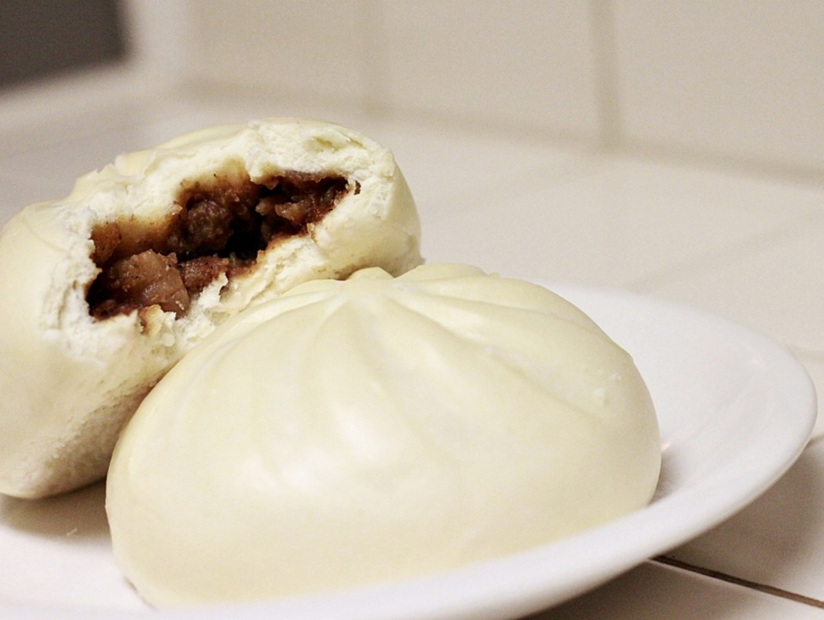 A delicious steamed siopao.