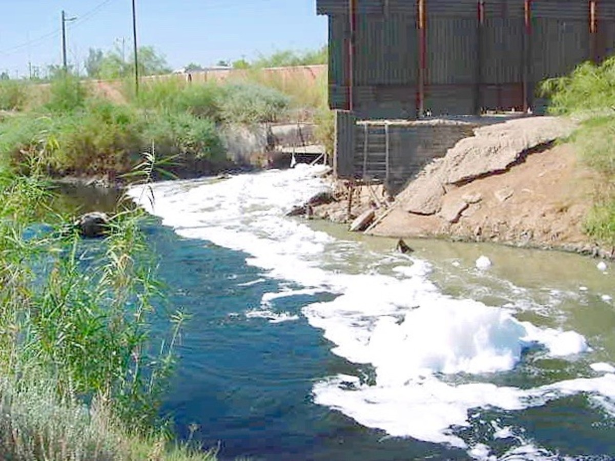 Similar to the Rio Grande River, raw sewage and industrial waste makes its way along the New River from Mexico to California.