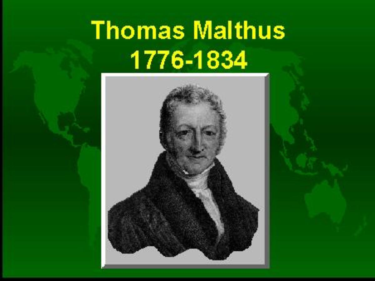 Malthus published a theory on population.