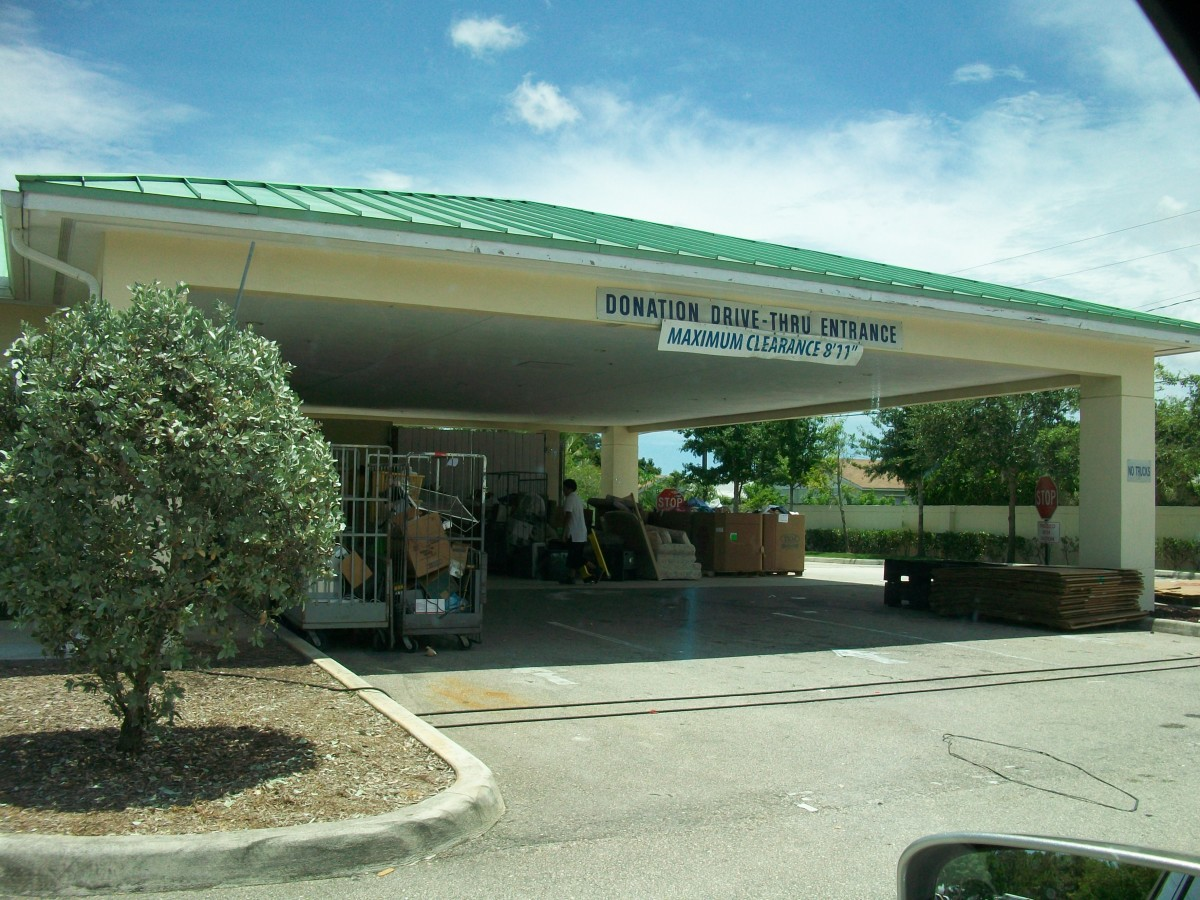 A Goodwill drive-through donation center in Jupiter, Florida.