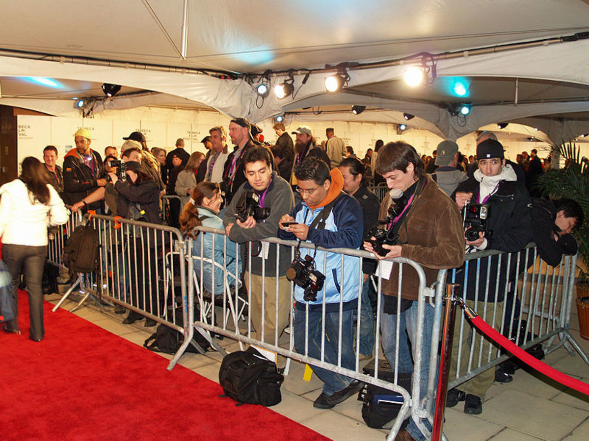 Waiting for a celebrity