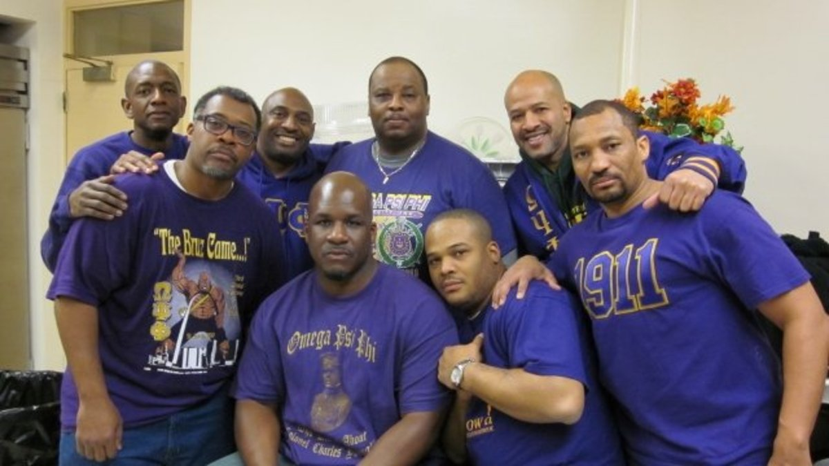 Community service and volunteering are core values of organizations like Omega Psi Phi Fraternity, Inc., Psi Nu Chapter, based in Alexandria, VA. They serve breakfast to the needy twice a month at Saint George's Episcopal Church in Washington, DC.