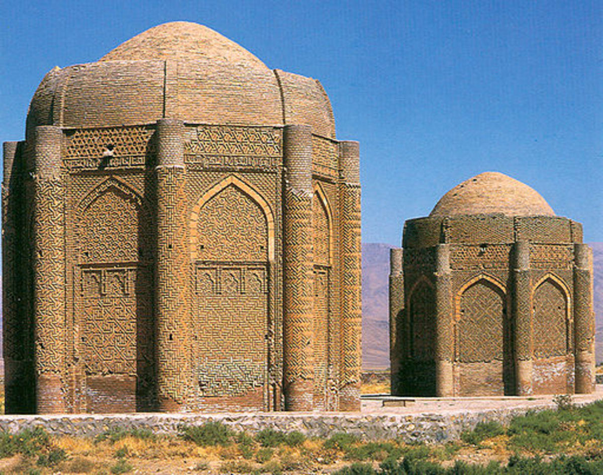 Iran descended from the ancient Persian Empire. The Kharaghan Towers are tombs in which two princes were buried a thousand years ago.