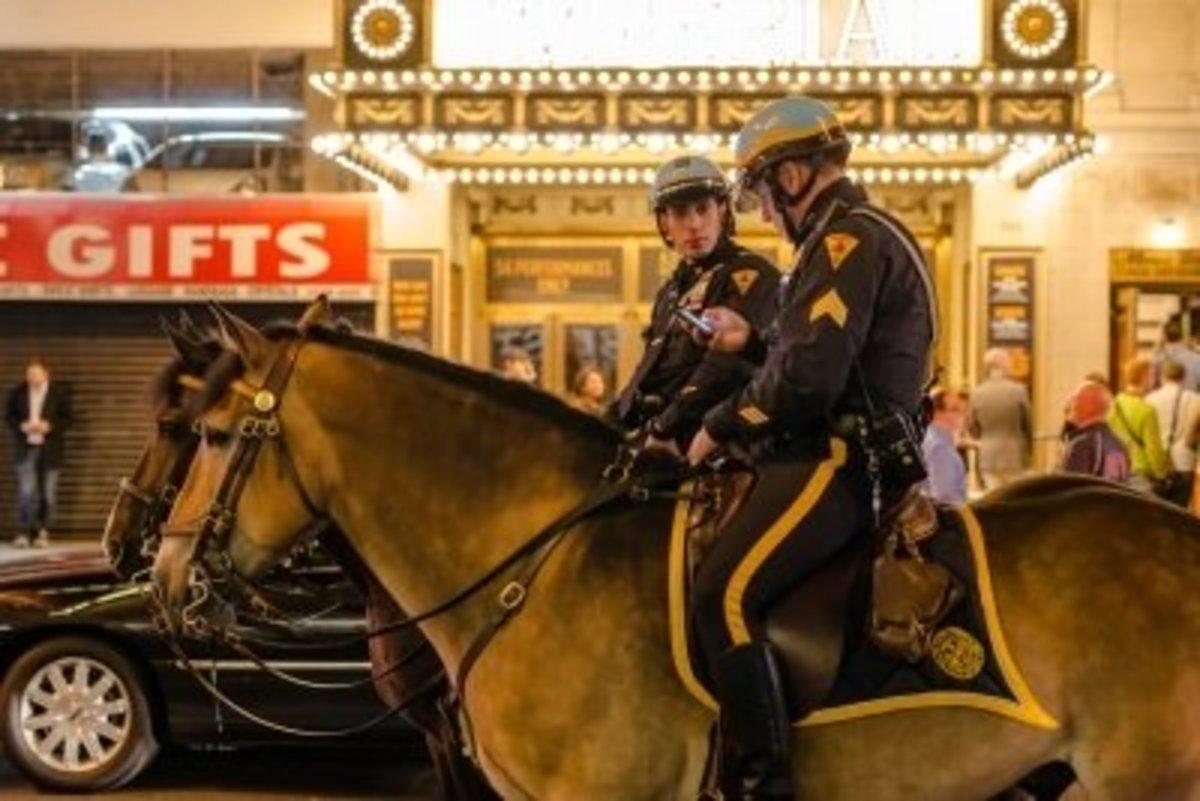 """New York Police On Horseback"" by Franky242"