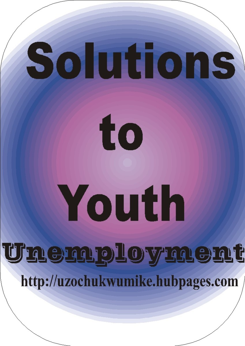 Solutions to youth unemployment. An Illustration showing how global youth unemployment can be solved.