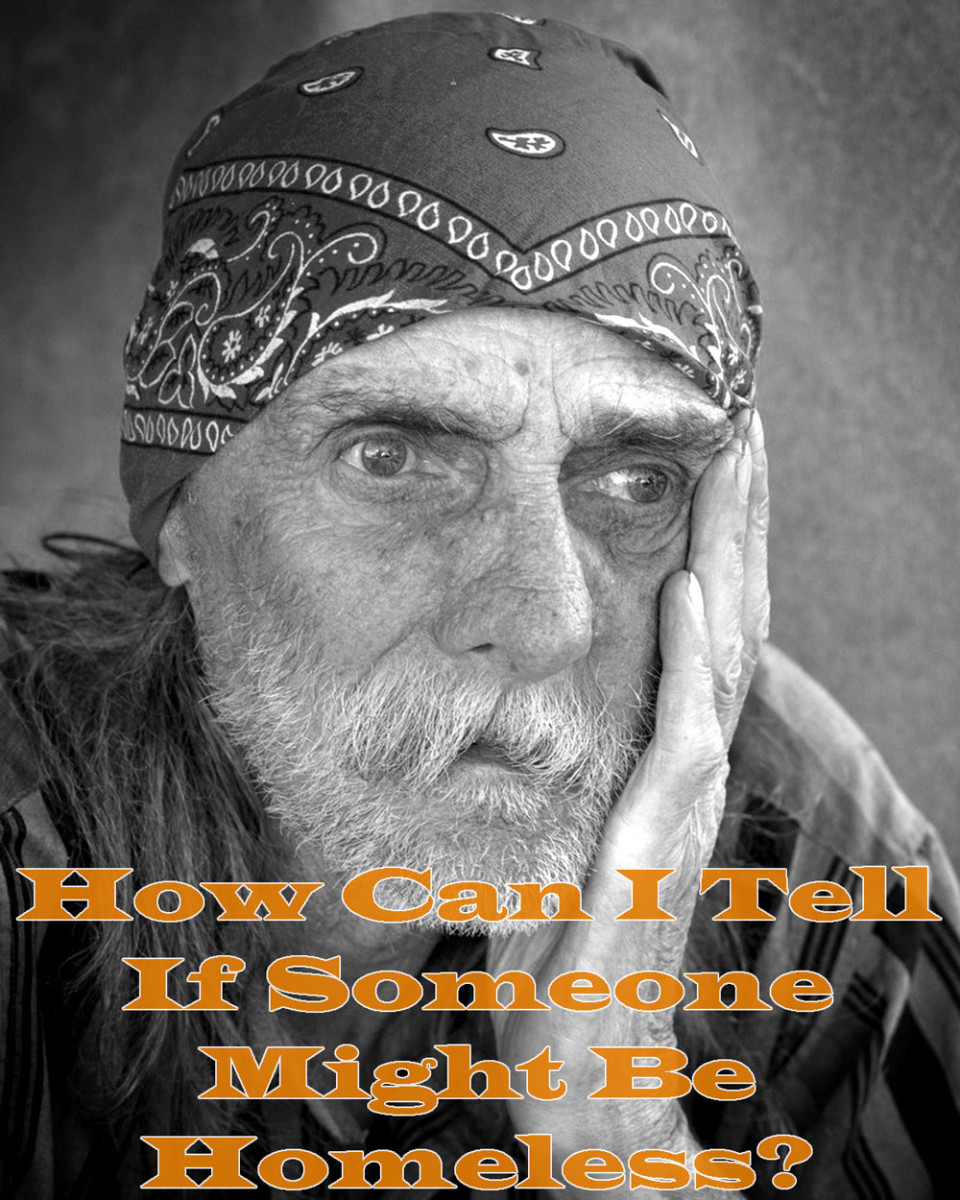 Can you tell if someone's homeless just by looking? Not always.