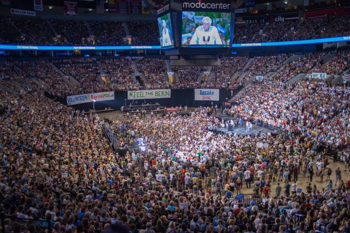 Bernie Sanders California rally