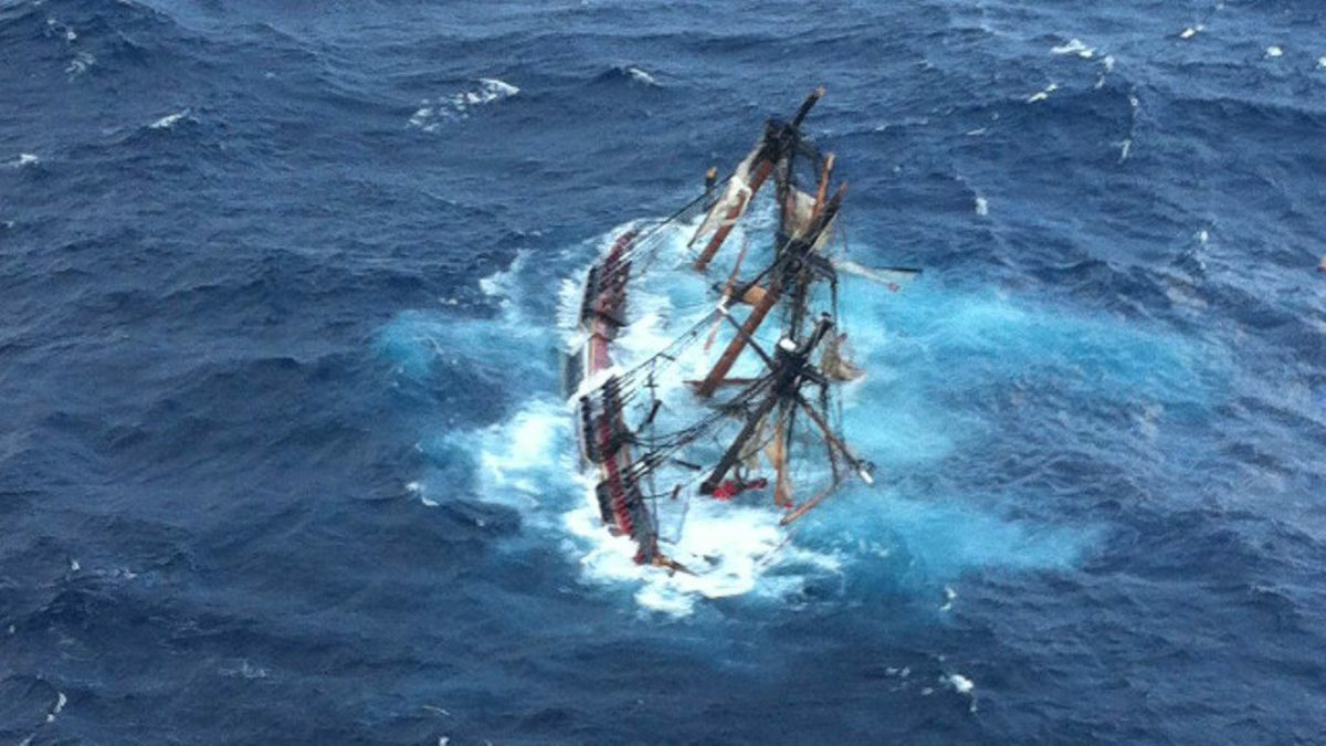 The replica of HMS Bounty sank off North Carolina in October 2012. Fourteen crew members were saved, but Captain Robin Walbridge went down with his ship.