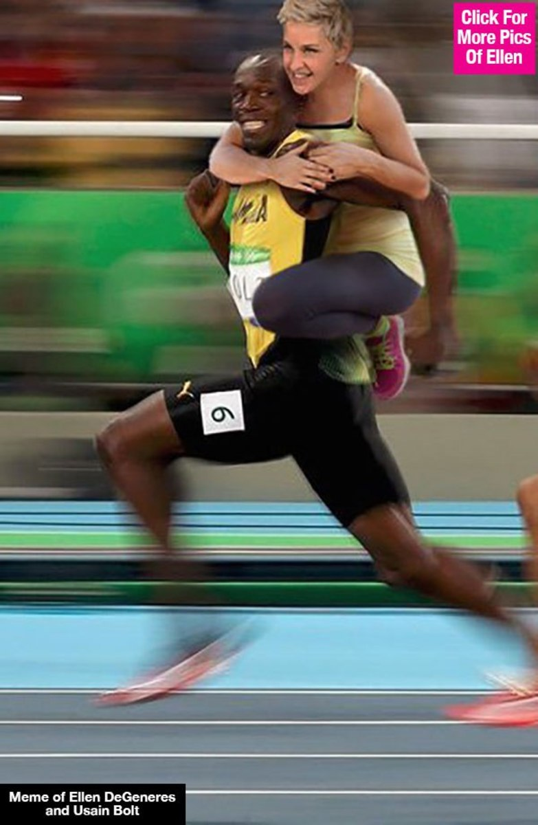 The Usain Bolt Meme and Ellen DeGeneres; If He's Not Bothered, Why Are You?