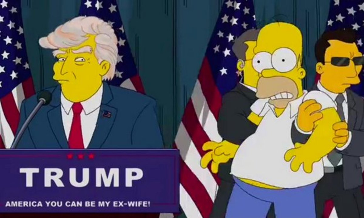 In 2000 The Simpsons cartoon predicted President Trump, and all the hell it would unleash.