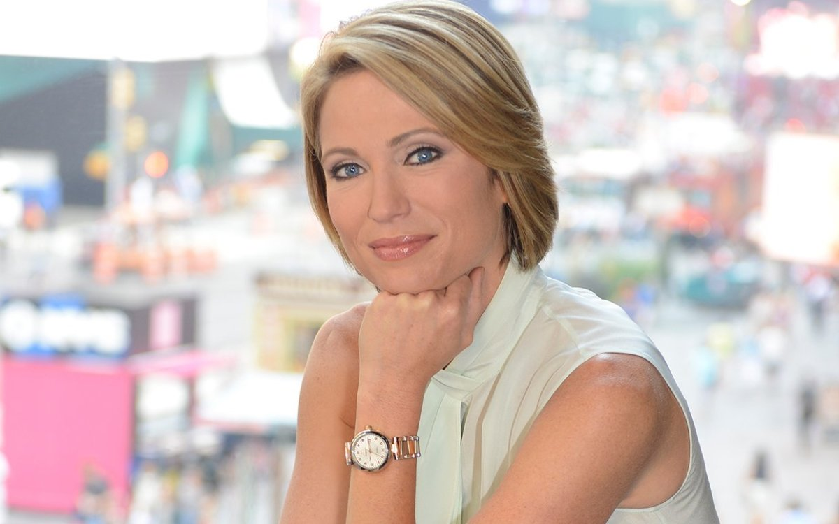 """Colored People?""  Amy Robach Stuns with Slip"