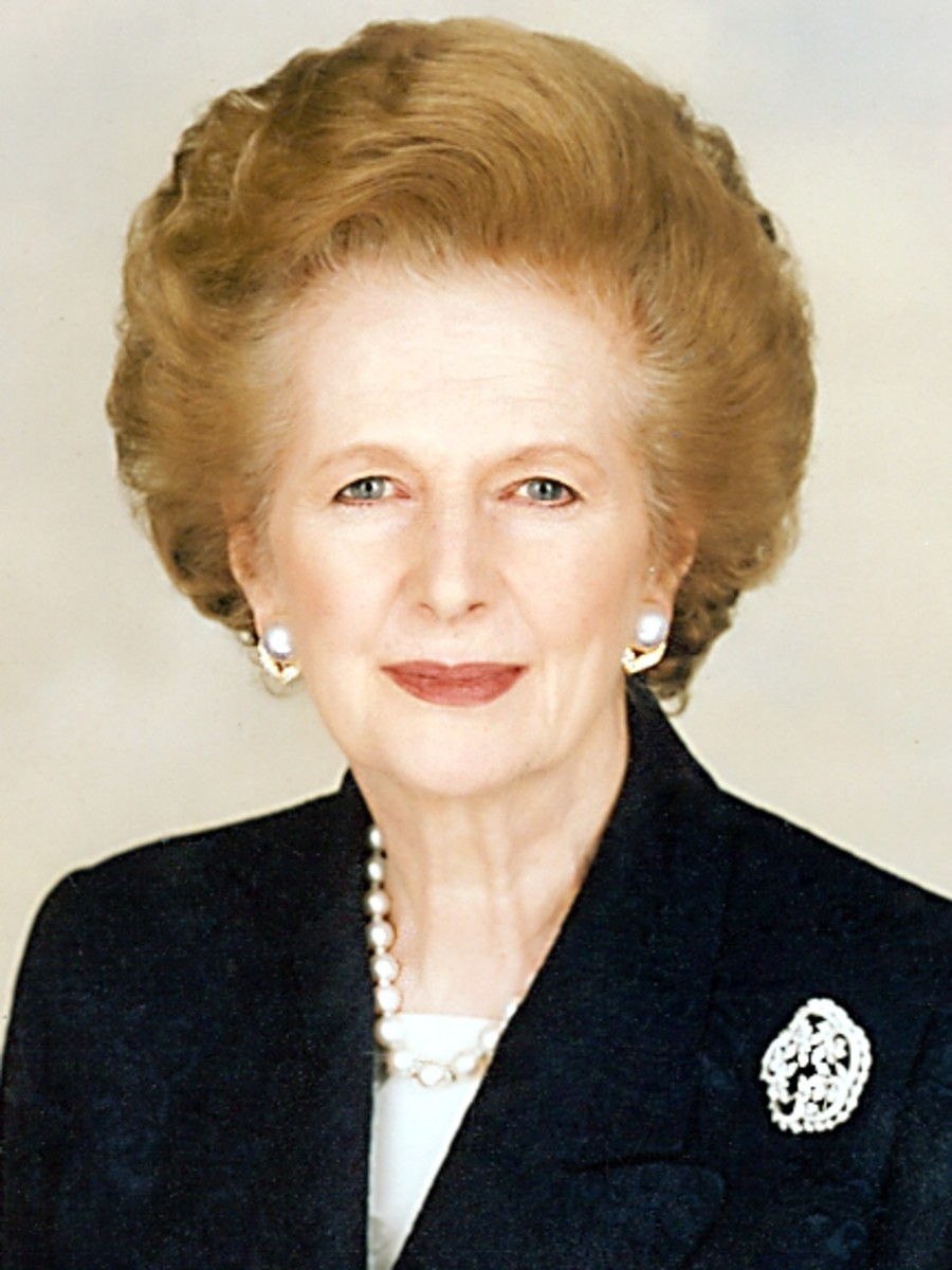 "Margaret Thatcher, the ""Iron Lady"" (Former Prime Minister of Great Britain)"