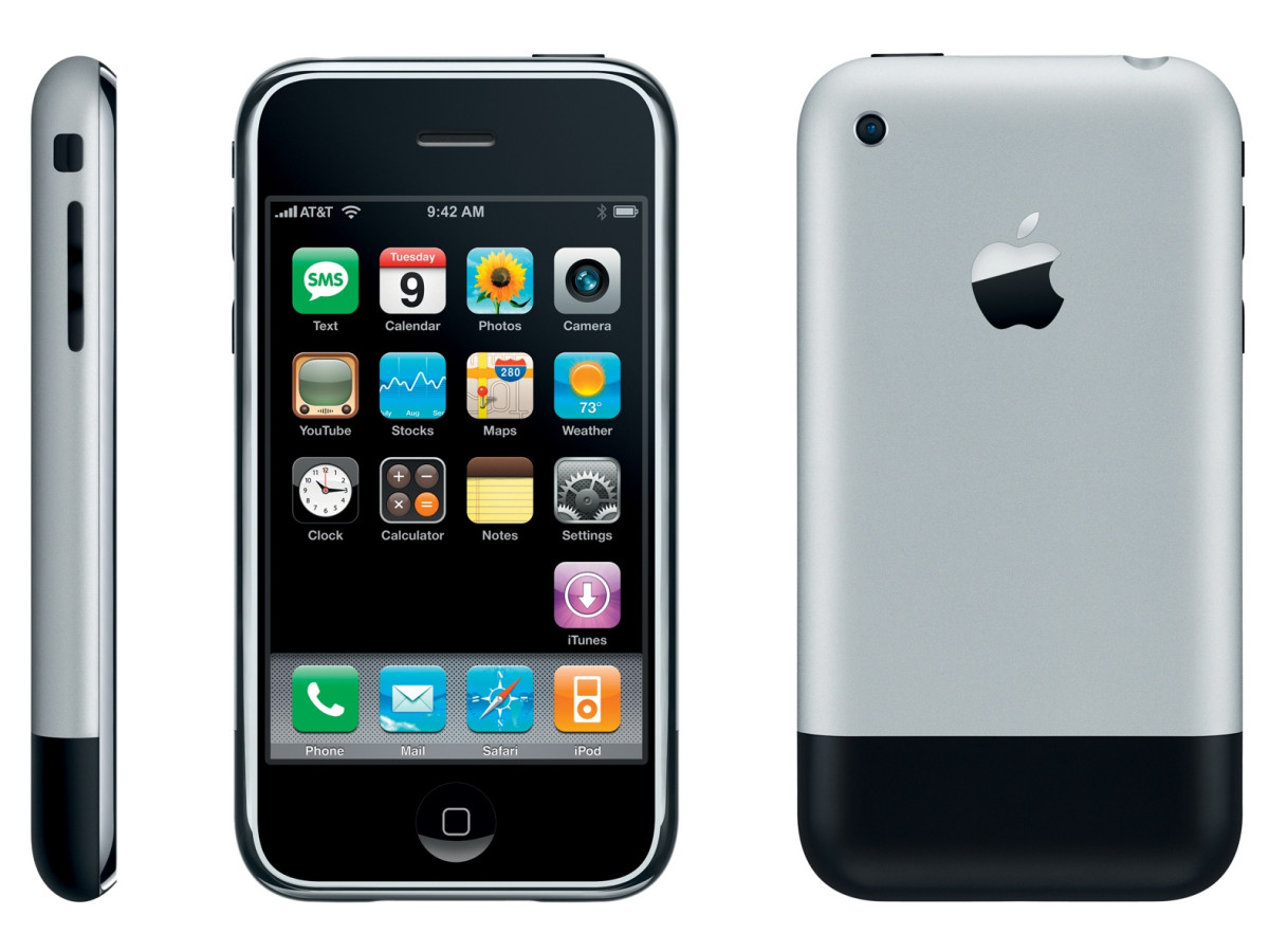 Apple's original iPhone released in 2007