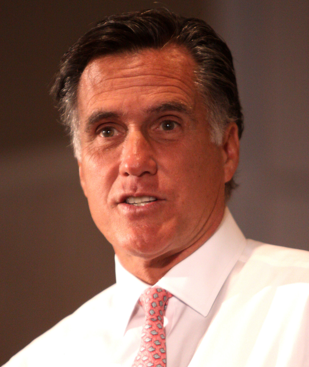 Mitt Romney, Republican Presidential Nominee and former Governor of Massachusetts.