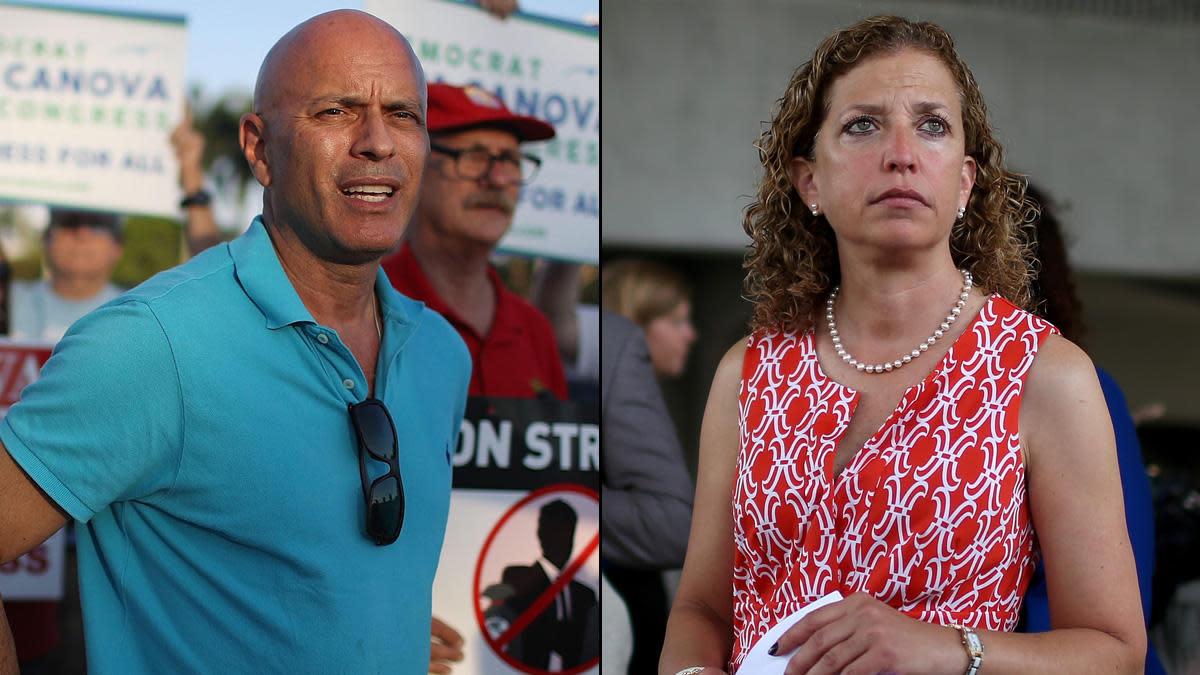 Tim Canova, Debbie Wasserman-Schultz