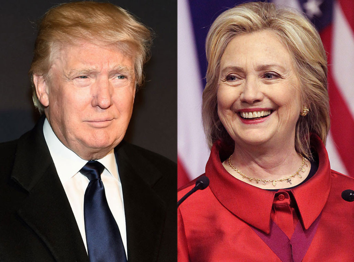 Donald Trump and Hilary Clinton, the Republican and Democratic candidates of 2016