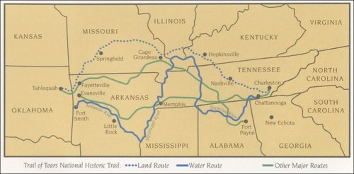 Many are the stories of Native Americans being sent to reservations, while their lands were taken.  But one of the the first and most well-known is the Trail of Tears.