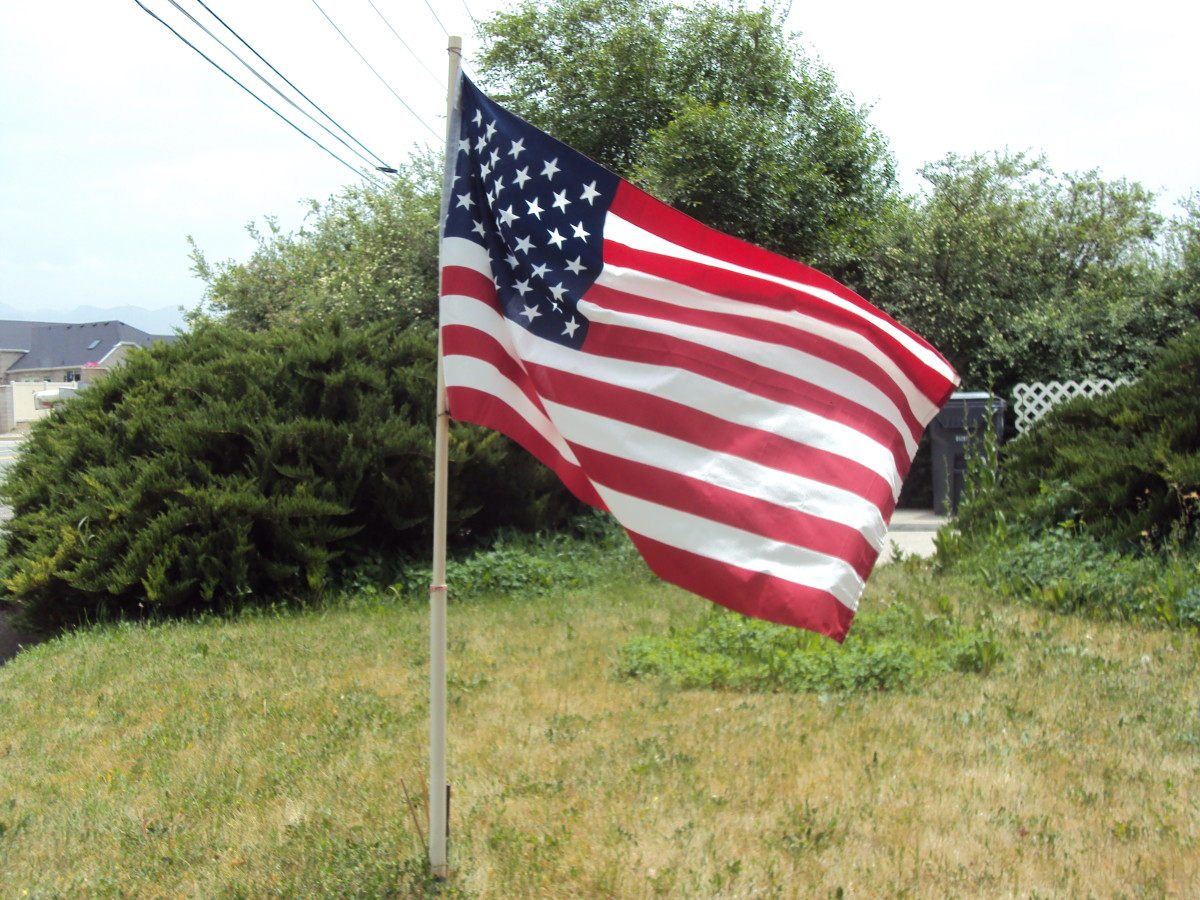 The American Flag still flies proudly over a free land and its territories.