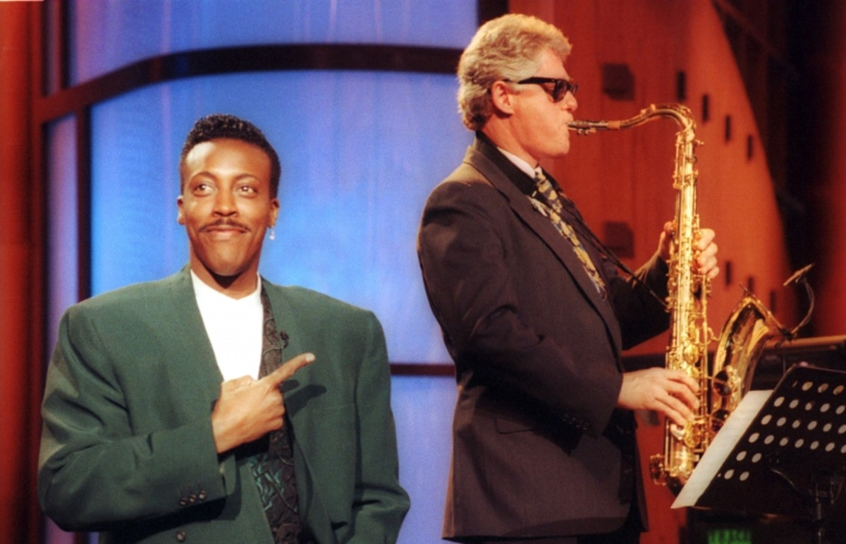 This 1992 appearance on the Arsenio Hall Show is considered what won him the election because it made him relatable.
