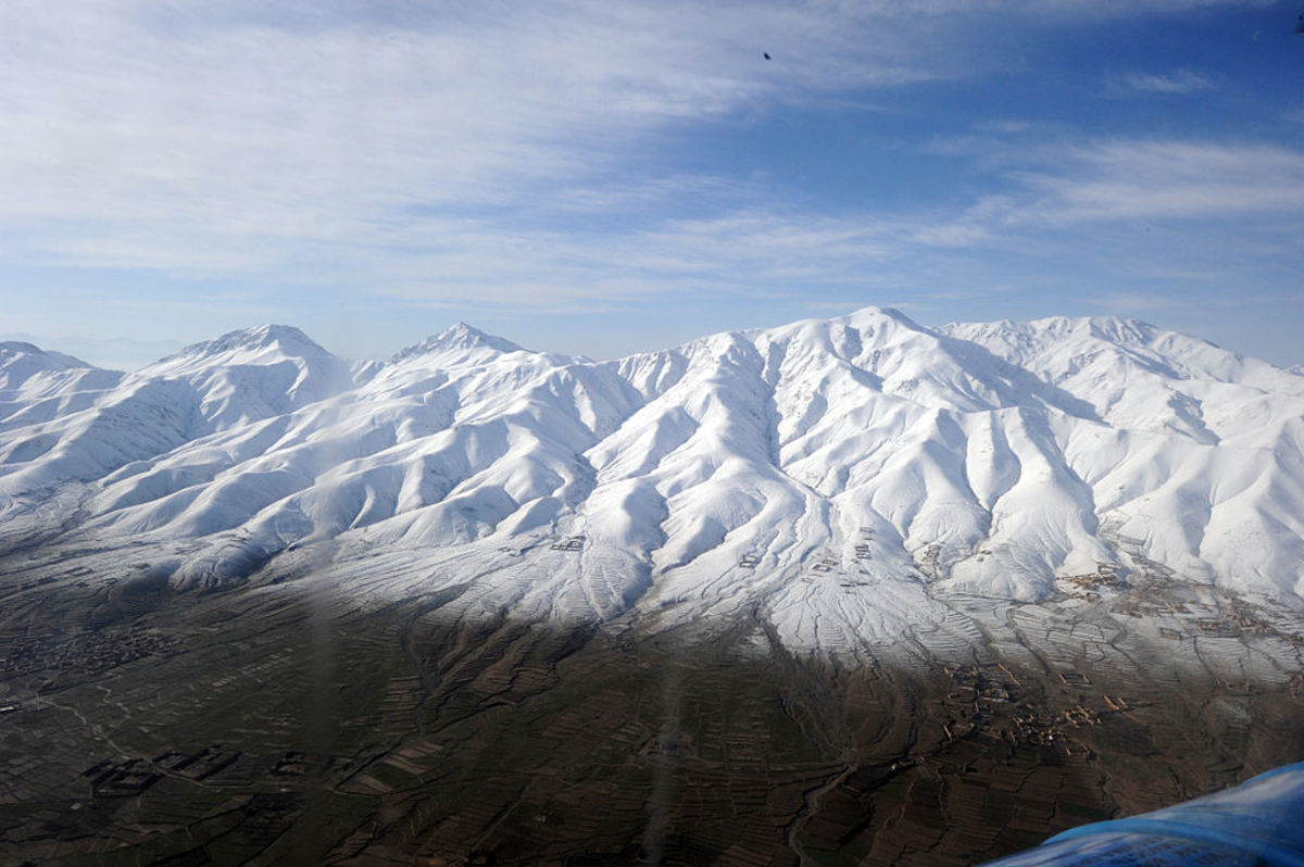 Snow covered mountains in Ghazni, Afghanistan